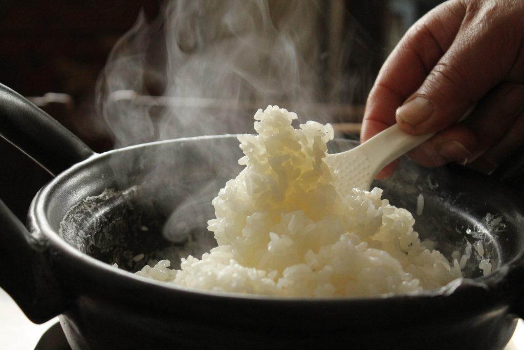 温たなべ白い美味しいご飯が炊ける